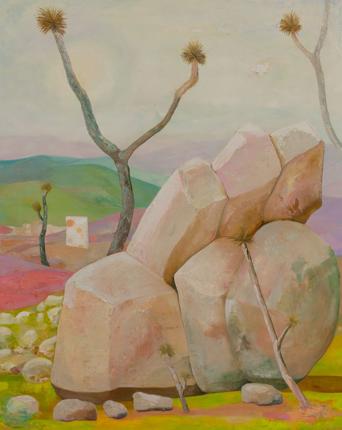Proposal for Monumental Frontini Canvas,  Joshua Tree, CA