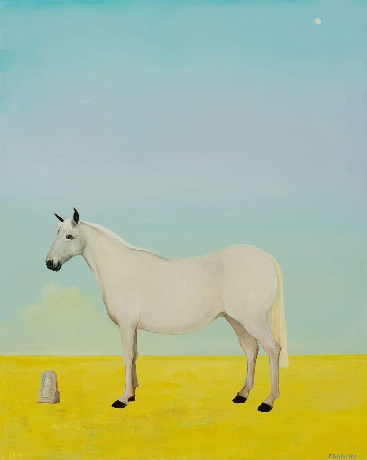 White Pony with Artifact (Connemara)
