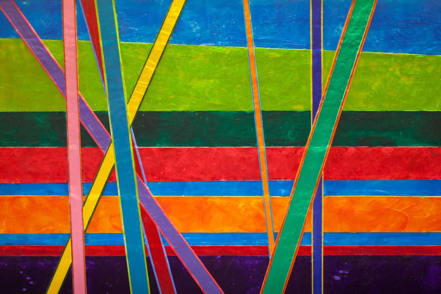 """Detail from """"Foundations"""" by Barbara Arnold."""