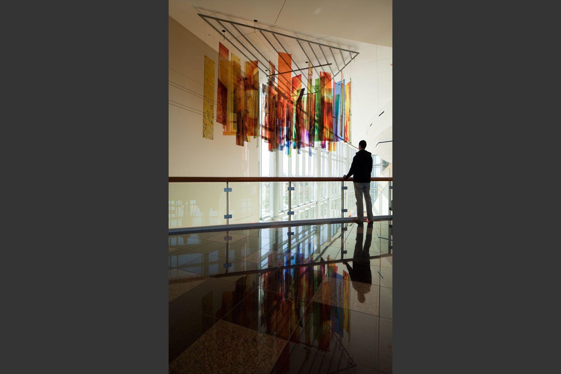 Glass Aerial Sculpture - Corridor