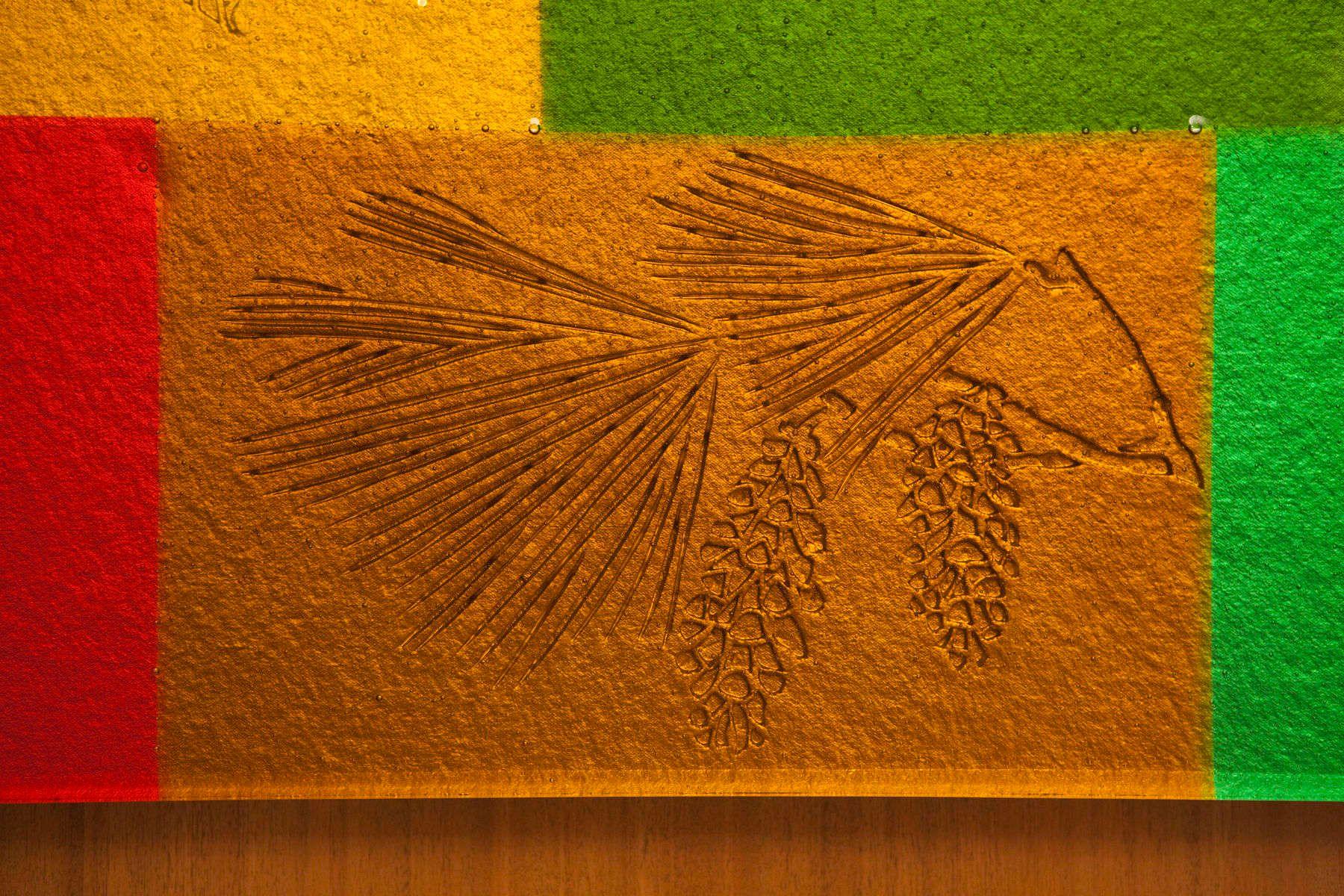 Anteroom Cast Glass Wall Piece detail