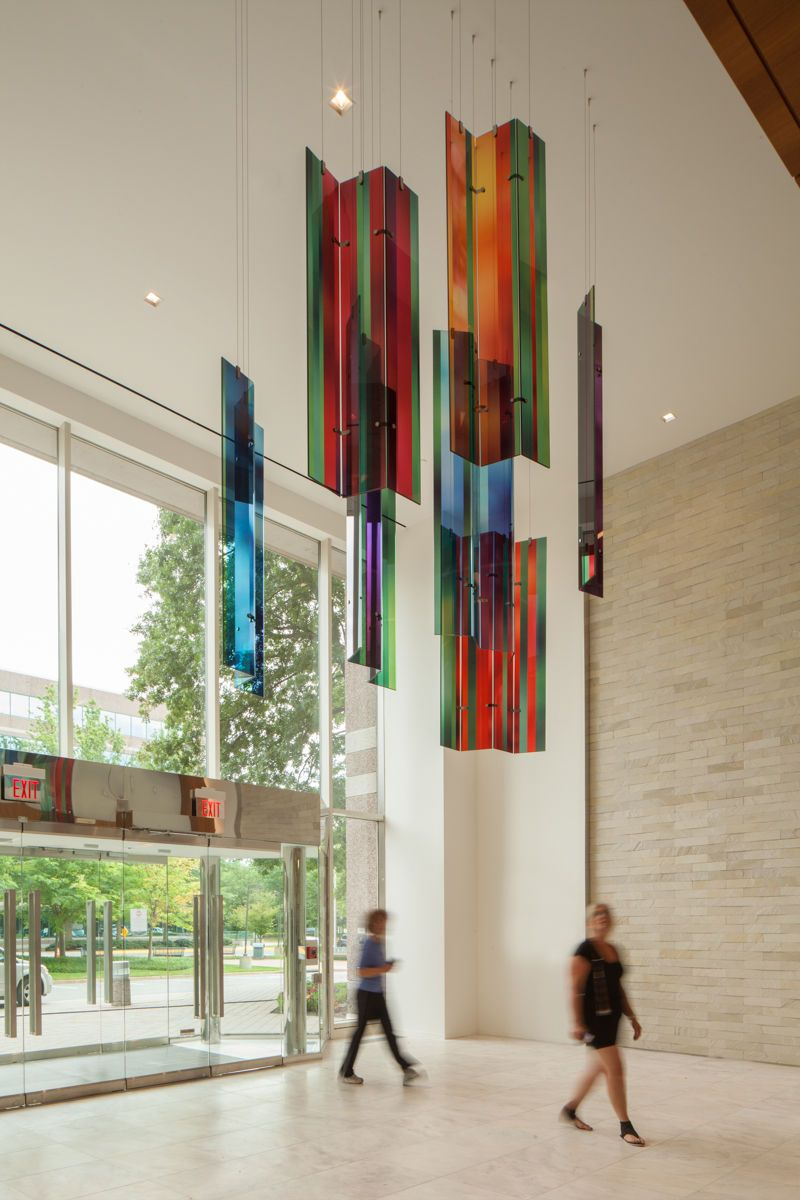Glass Aerial Sculpture by J. Gorsuch Collins Architectural Glass