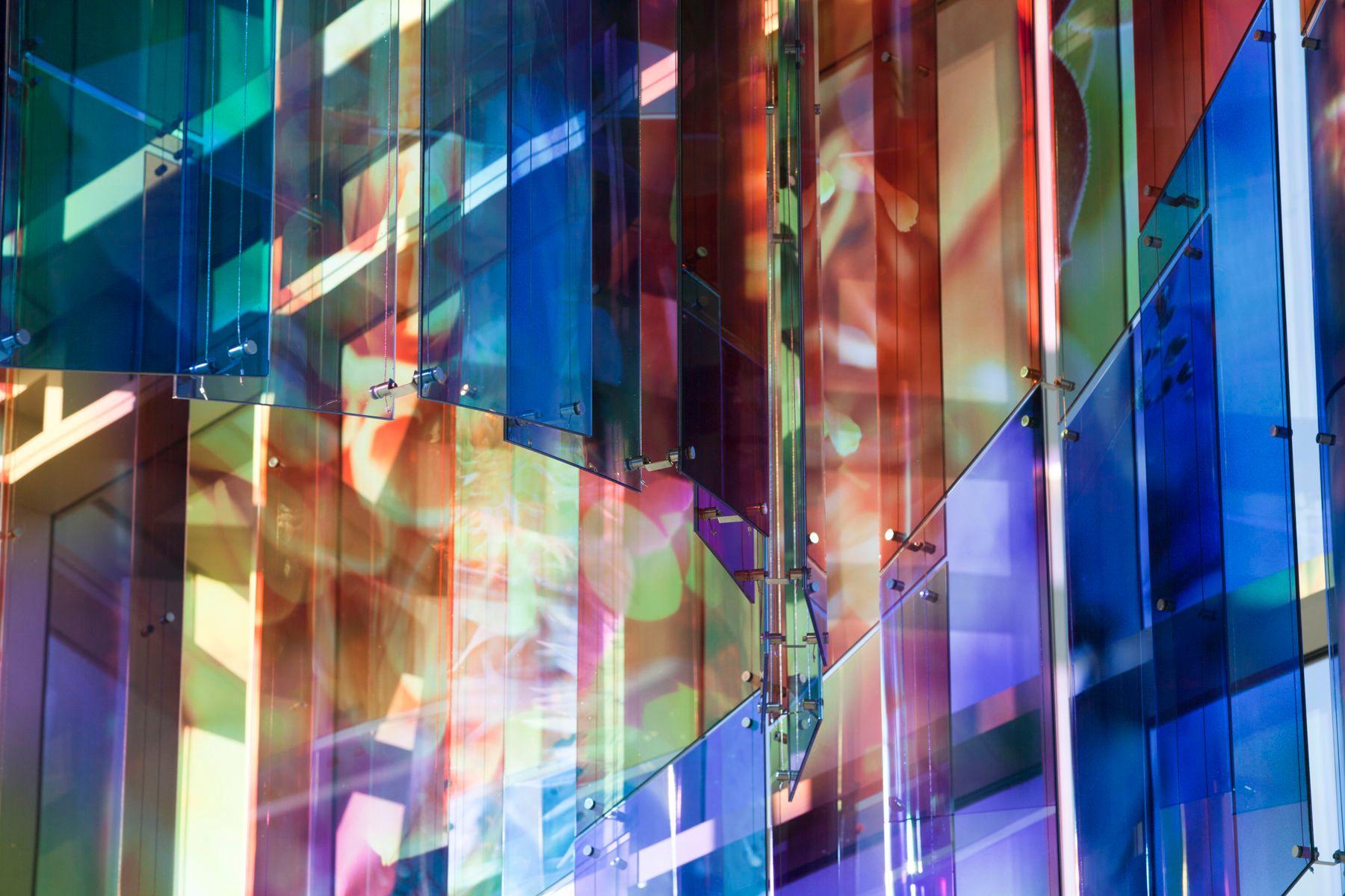 Glass Aerial Sculpture - Vertex Detail