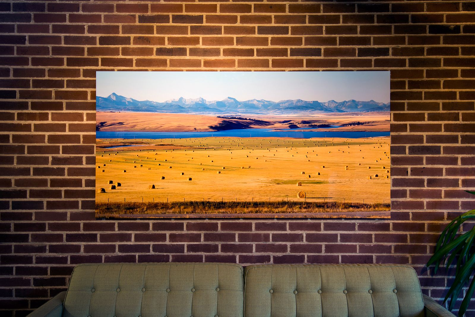 Alberta landscape, 36x72 inches on aluminum panel