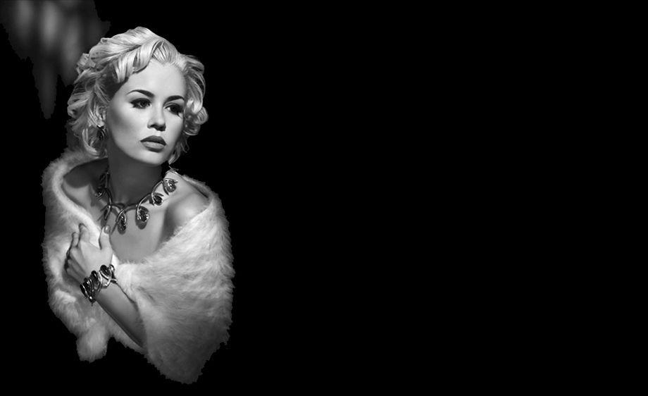Glamour film noir portrait