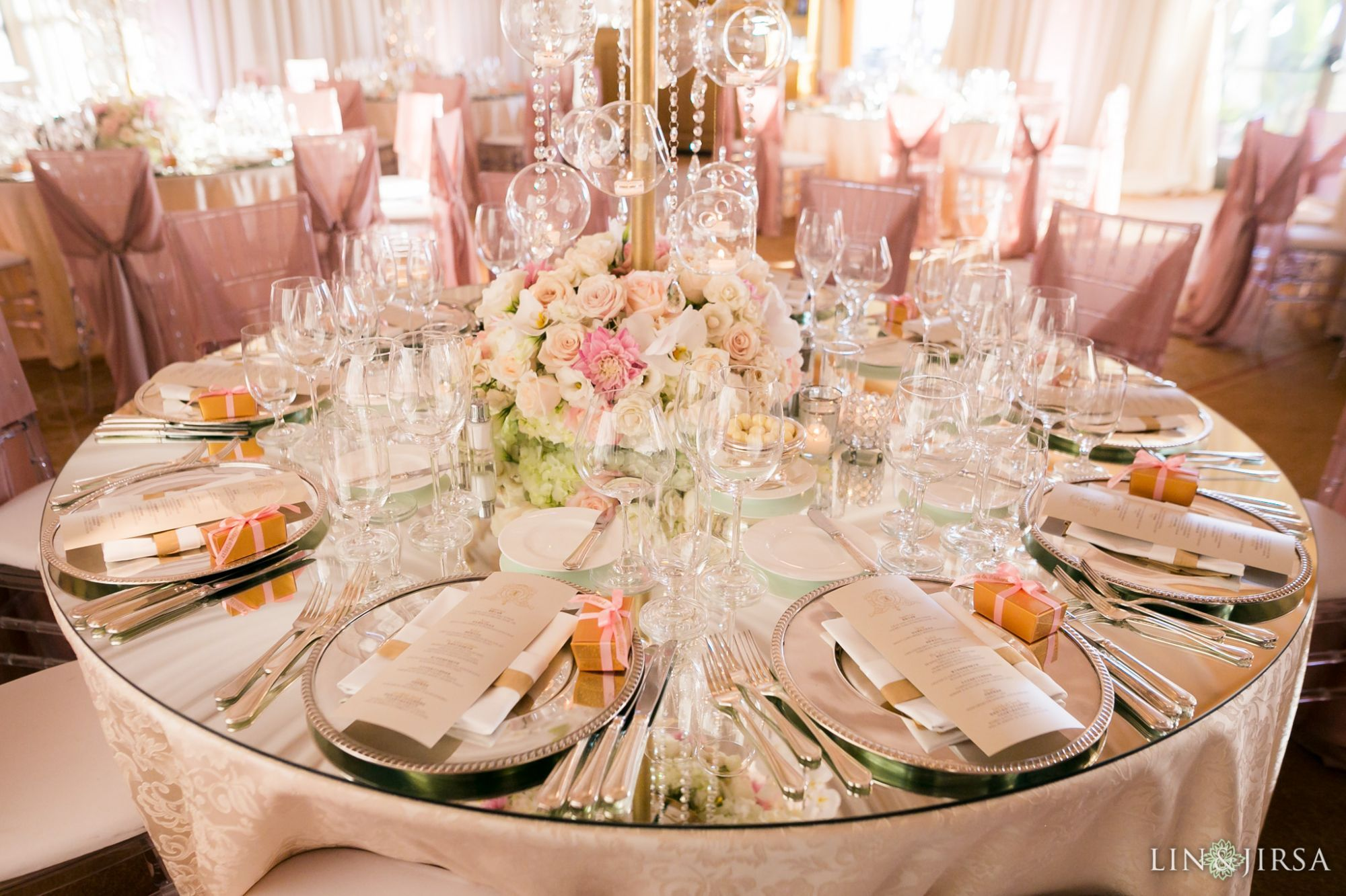 Blush and Champagne Place Setting