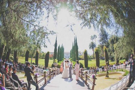 Outdoor Wedding on a Bridge