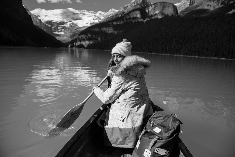 Melrose Boyer, Paddle Boat, Lake Louise