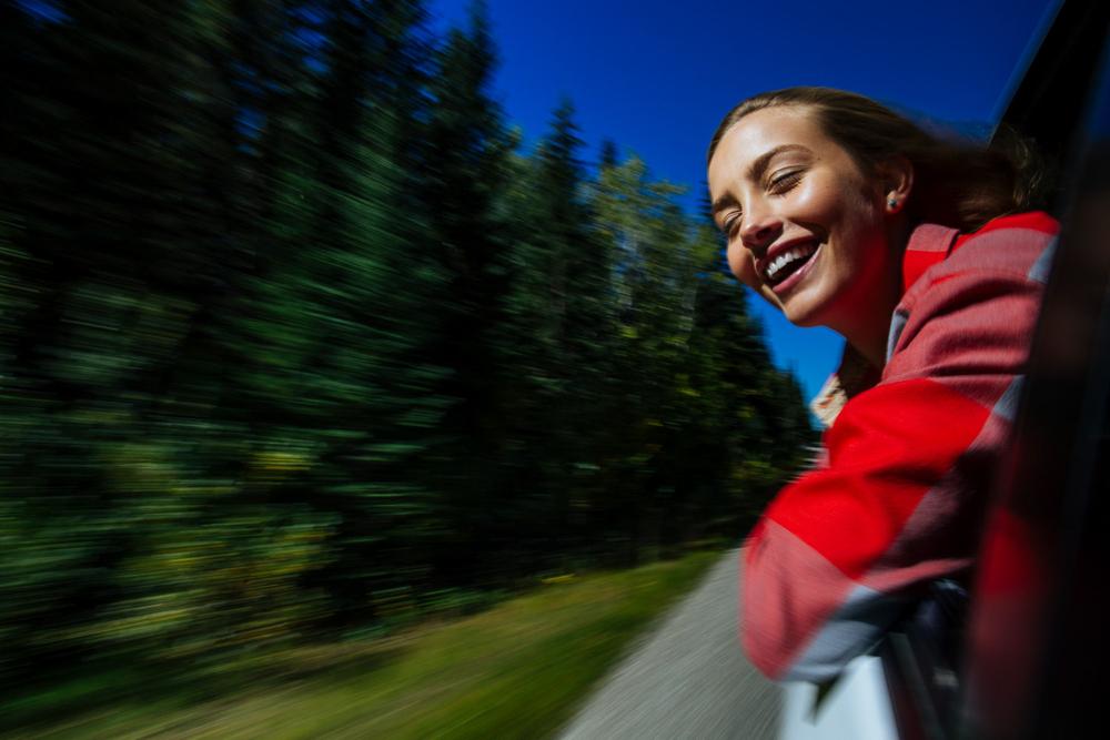 Melrose Boyer, Wind in her hair, Banff