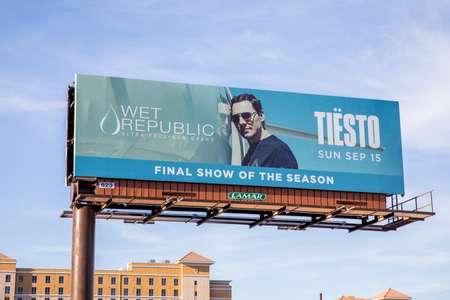 Tiesto Billboard Las Vegas and LA