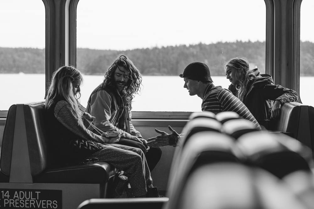 Crew, Chatting on the ferry