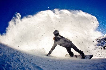 Shaun White lays out a turn
