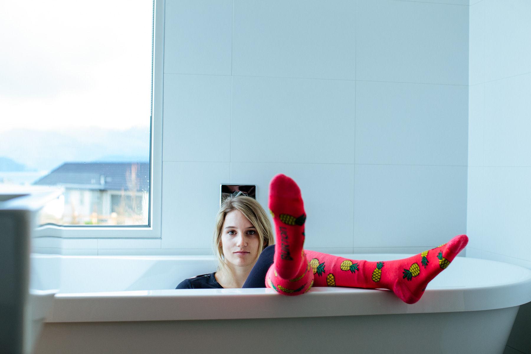 Anna Gasser, Socks