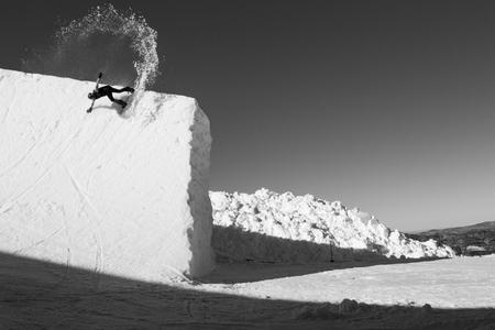 Shaun White slashing a giant halfpipe wall in Australia