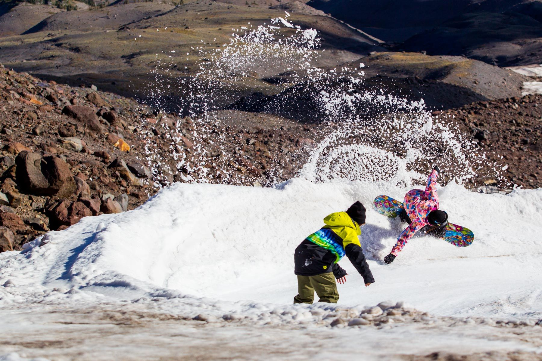 Hailey Langland snow spray