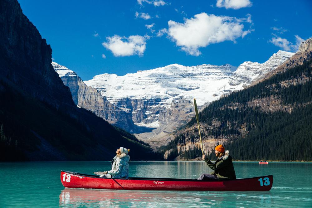 Canoe, Lake Louise, Mark Sollors, Melrose Boyer