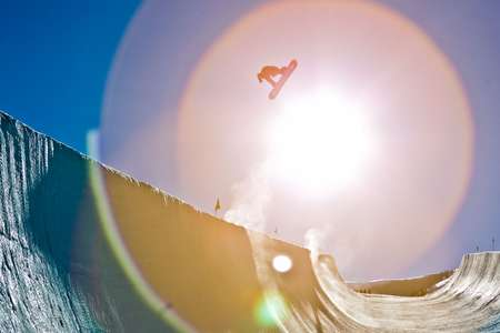 Shaun White flies out of the sun