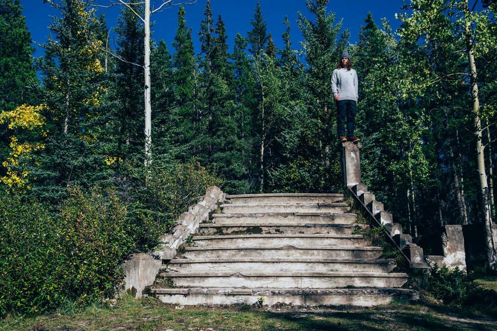 Danny Davis. Statue. Banff