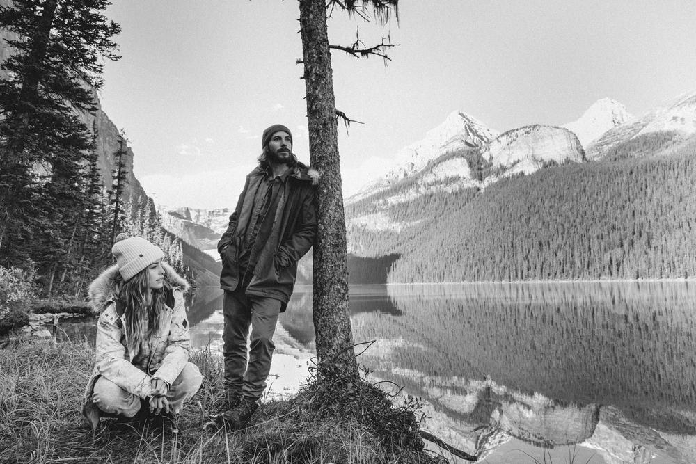 Melrose Boyer, Mark Sollors, Lake Louise, Black And White