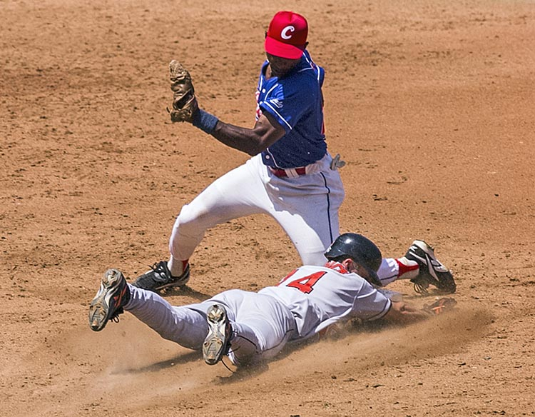 Cuban National team hosts Baltimore Orioles in 1999 exhibition game in Havana.
