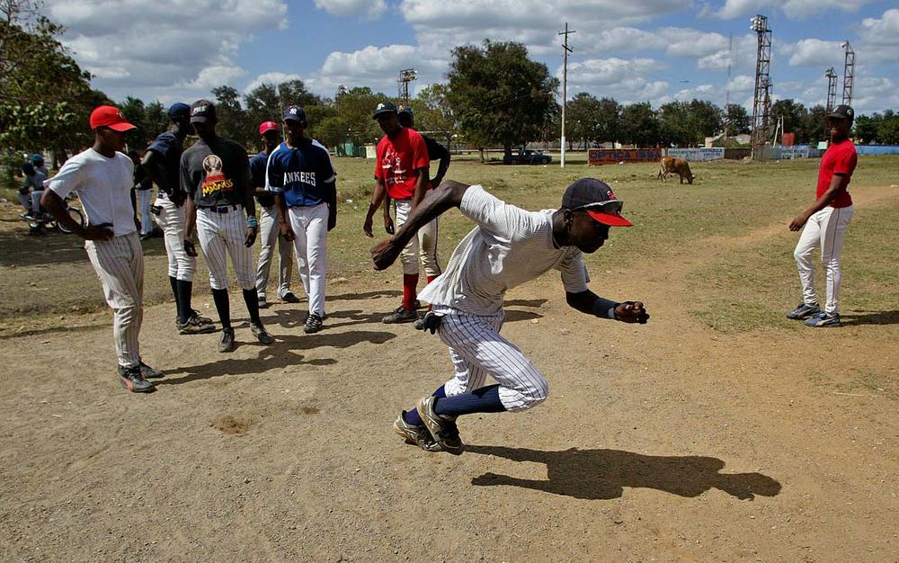 Baseball practice in Consuelo, DR.