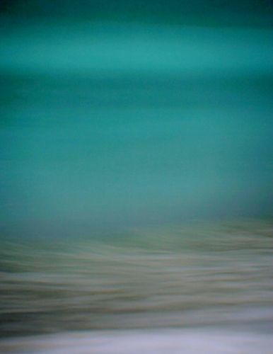 OCEAN at Dawn: teal  and  grey.