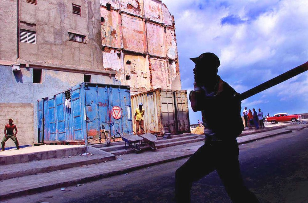 Baseball or stickball  is played  everywhere in Havana.