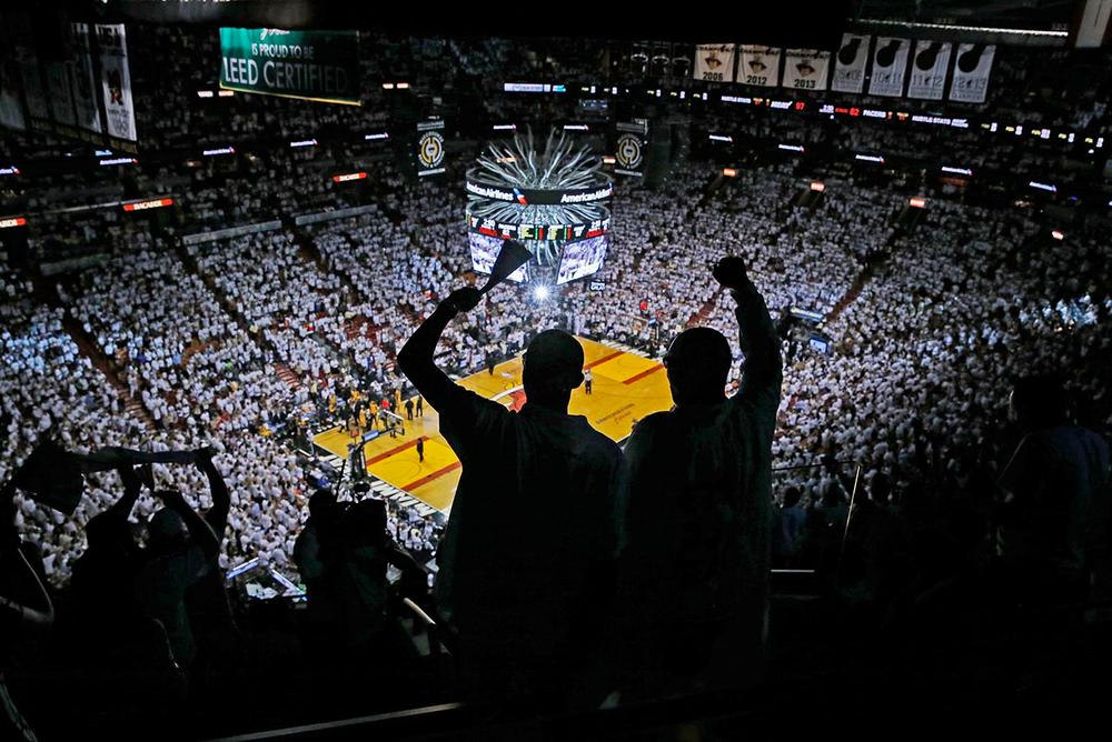 Heat fans during NBA Finals.