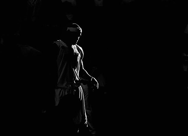 LeBron James in the light.