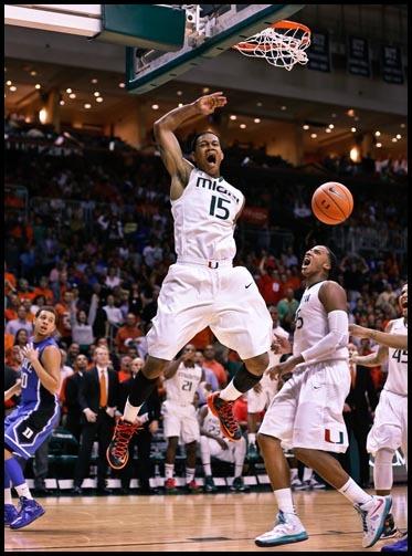 Miami dunks  Duke.