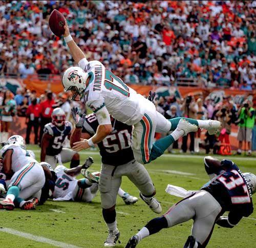 Touchdown leap.