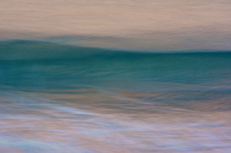 OCEAN at Dawn: teal wave.