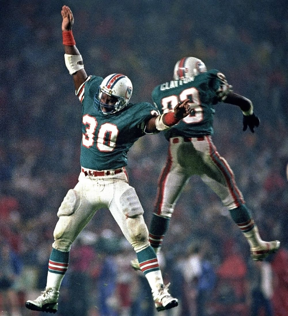 Dolphins touchdown celebration.