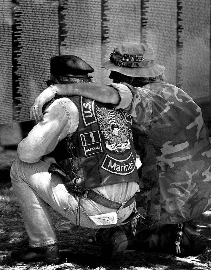 Vietnam memorial moment.