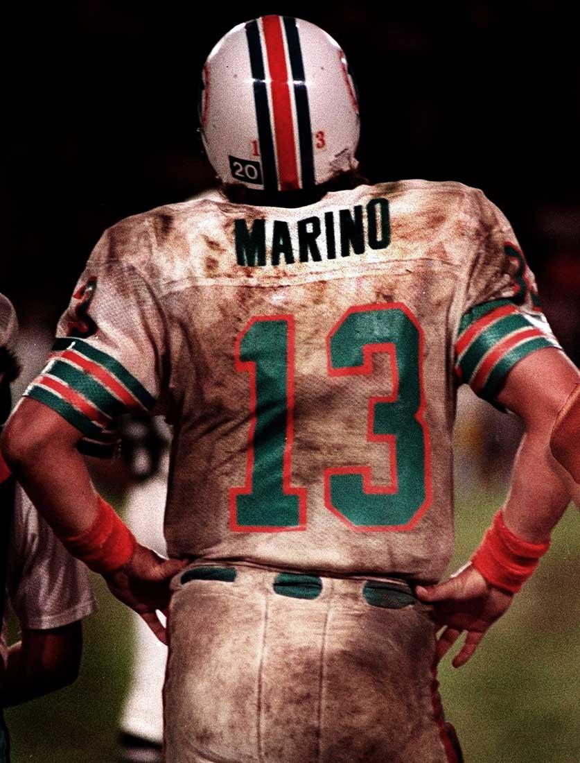 Miami Dolphins quarterback, Dan Marino .