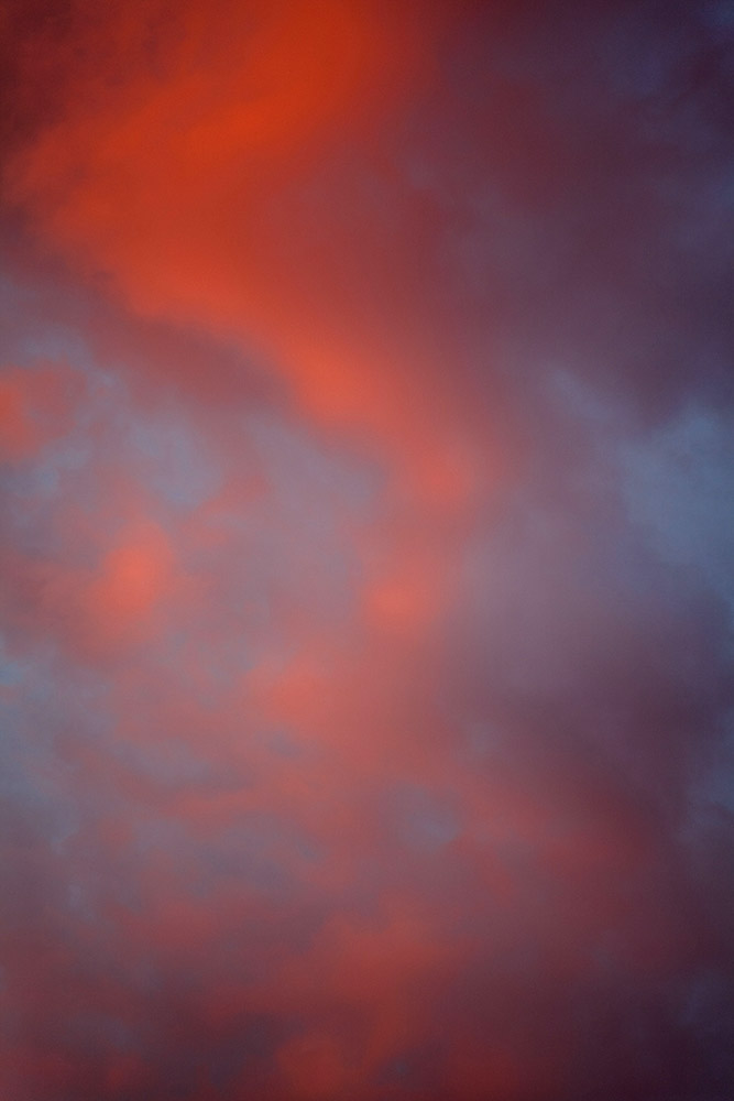 Clouds: red swirl.