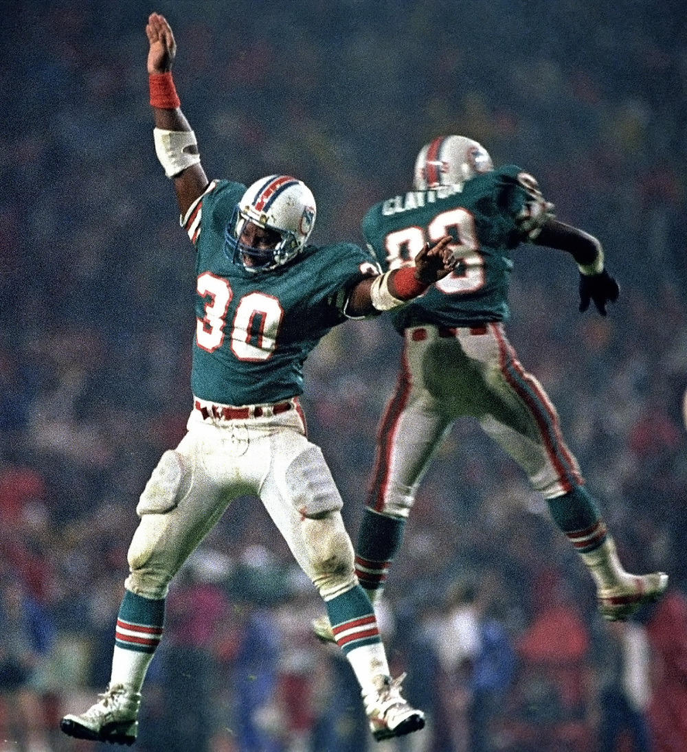 Dolphins celebration.