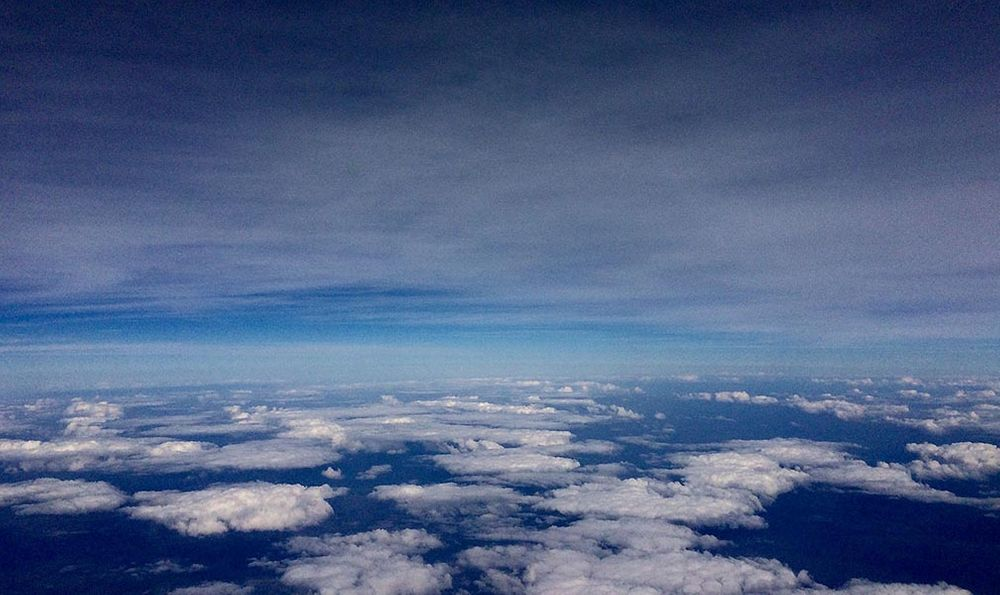 Clouds: aerial view .