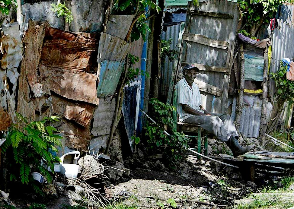 Extreme poverty  in Consuello, Dominic  Republic.
