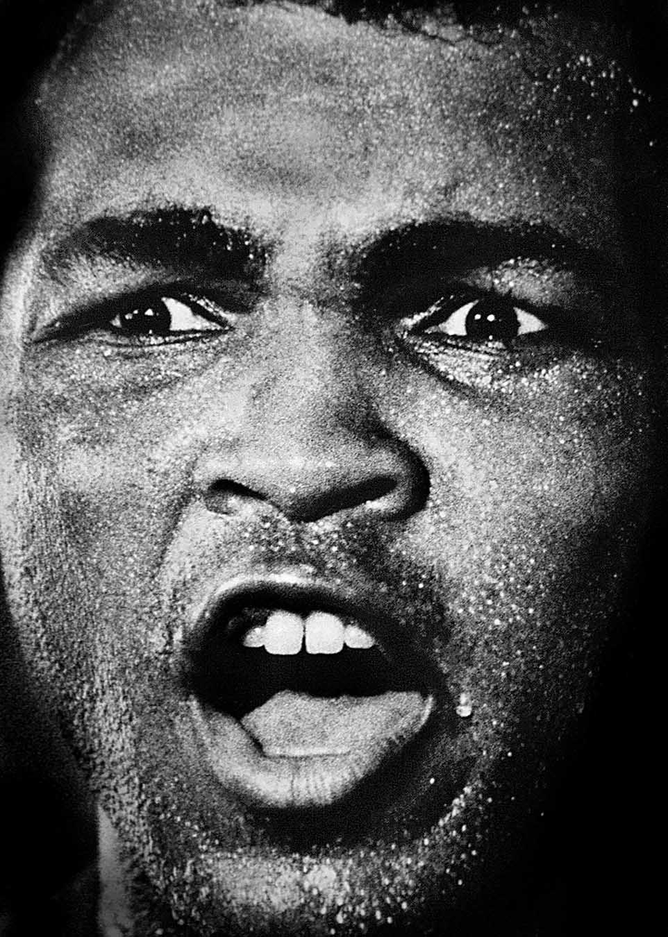 Muhammad Ali at the 5th street gym, Miami Beach.