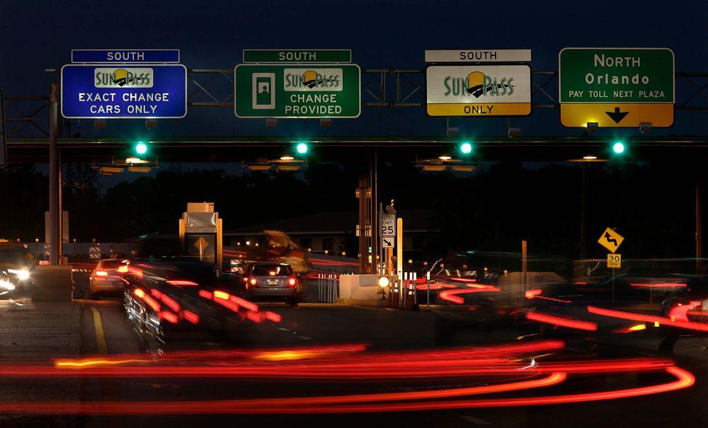 Highway lights.