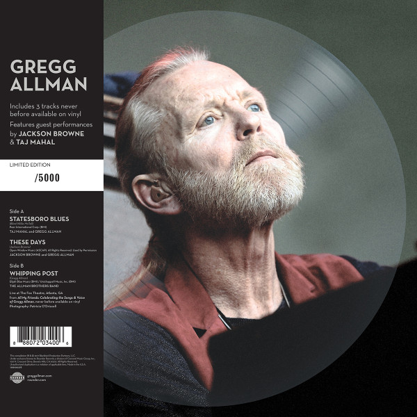 Gregg Allman limited edition picture disc