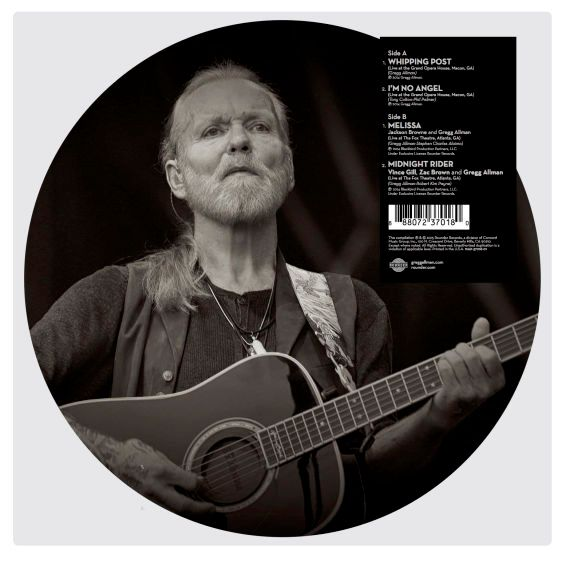 G regg Allman picture disc back