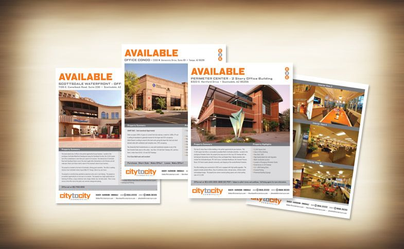 Commercial Real Estate Email Sales Sheets for City to City Commercial
