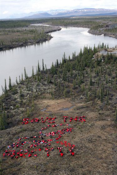 Gwich'in people send message to save the Arctic National Wildlife Refuge from oil drilling