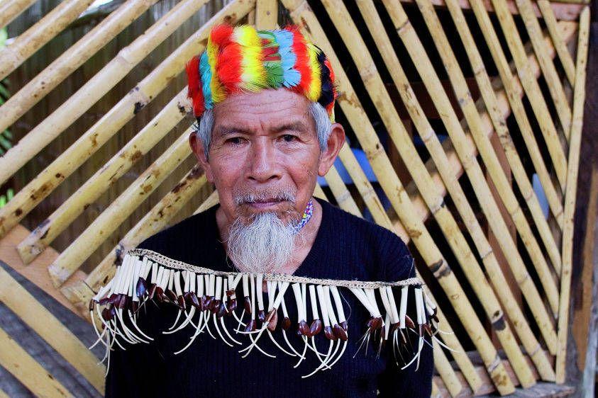 Kichwa shaman Sabino Gualinga in Sarayaku.