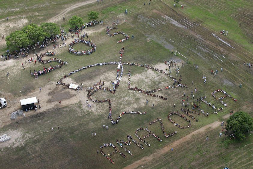 INDIGENOUS PEOPLES SEND SOS FOR THE AMAZON AT WORLD SOCIAL FORUM