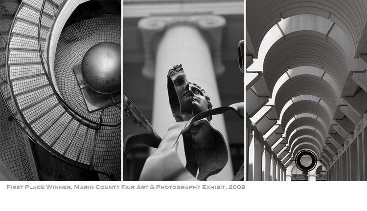 San Francisco b/w triptych, CA