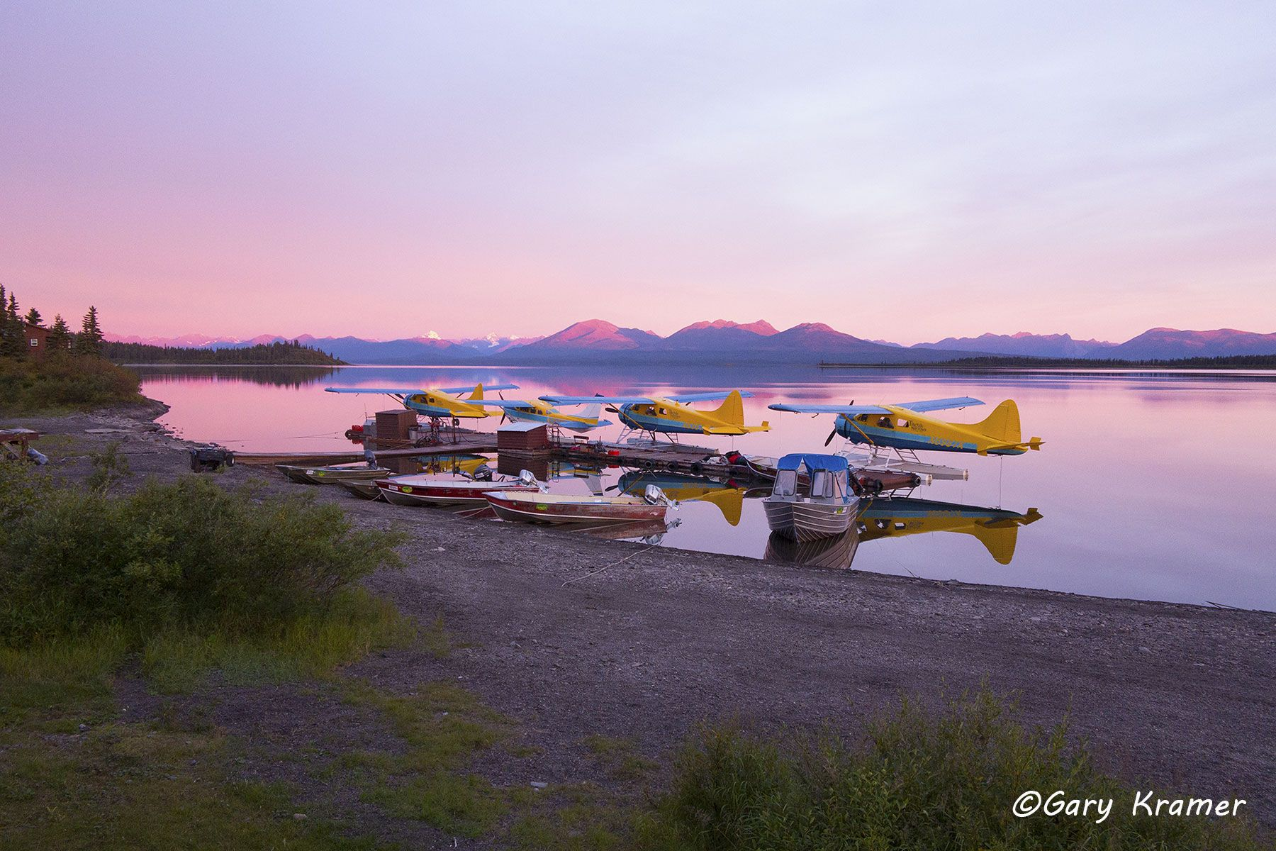 Float planes, Tikchik Narrows Lodge, Alaska - NFAFT#013d