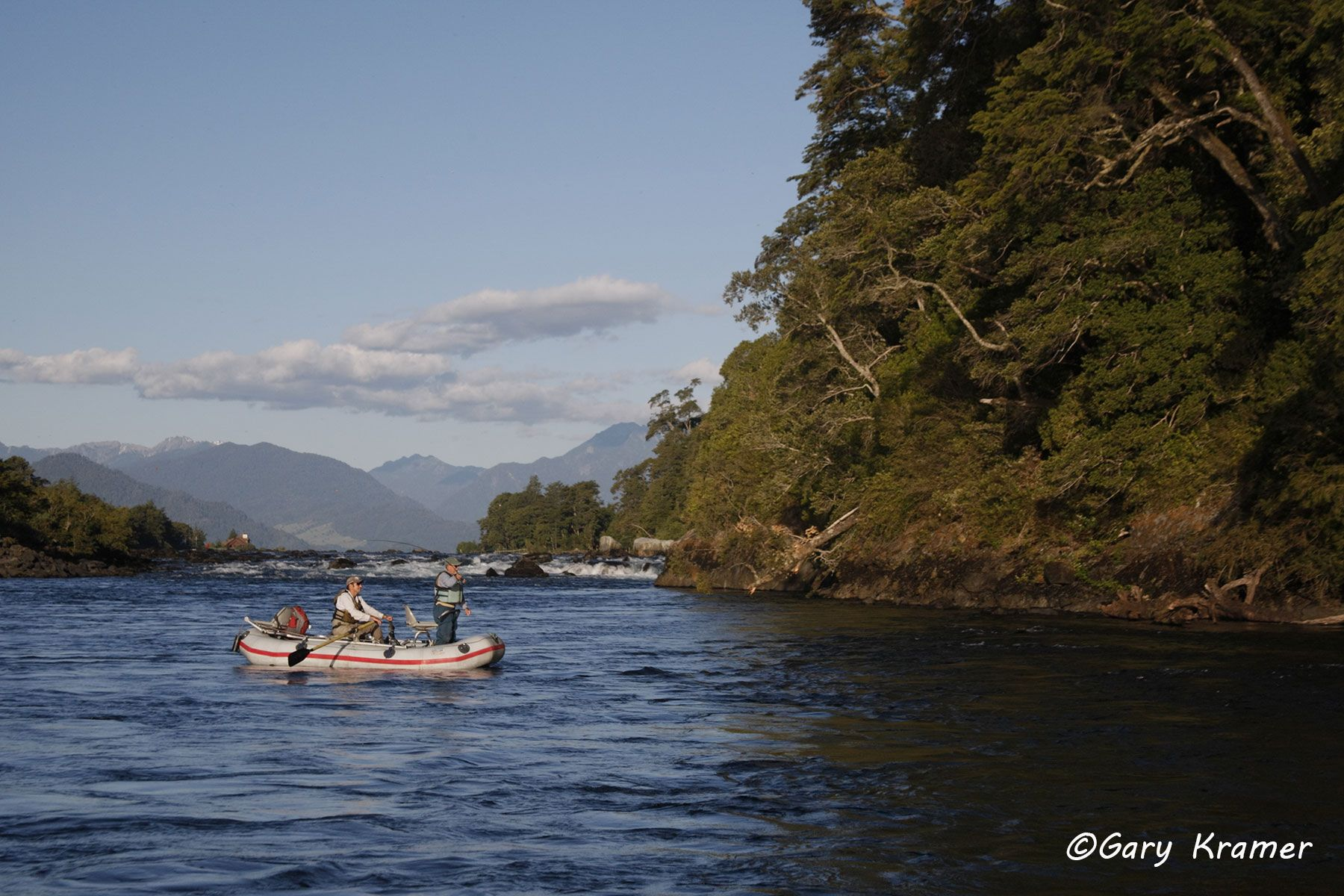 Flyfishing for Trout from rubber raft, Chile - NFTdr#115d